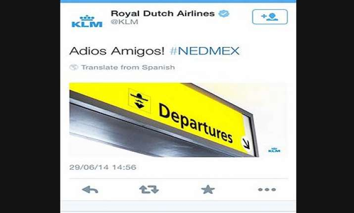 fifa world cup dutch airline carrier bad tweet angers