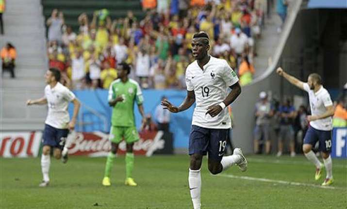fifa world cup france beats nigeria 2 0 to reach world cup