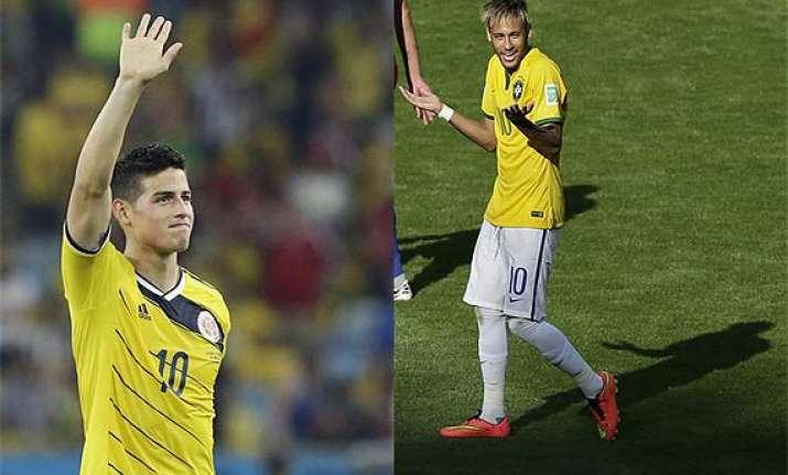 fifa world cup neymar hopes james rodriguez s good run ends