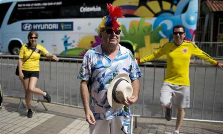 fifa world cup travel weary colombians keep party going in