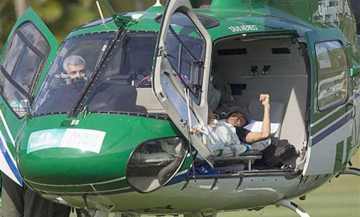 fifa world cup neymar airlifted from brazil s training camp