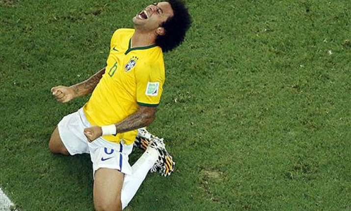 fifa world cup marcelo stays in camp despite grandfather s