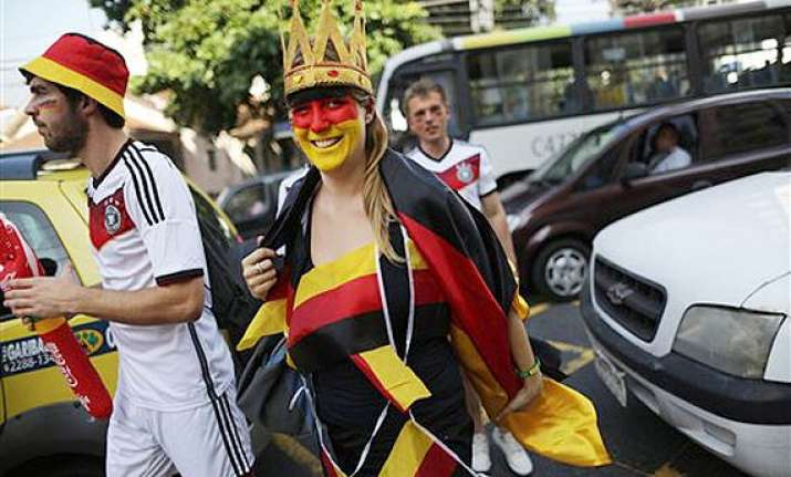 fifa world cup fans start gathering for brazil germany