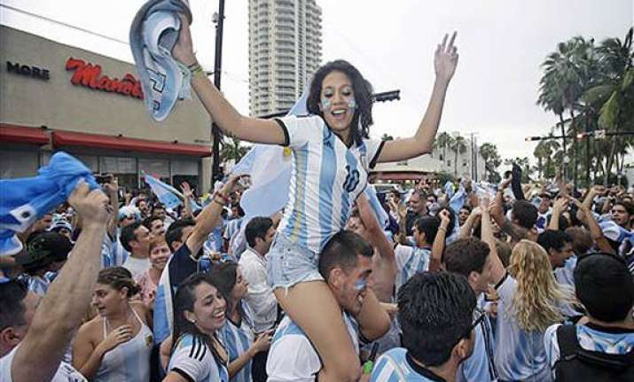 fifa world cup argentina soccer fans delight in final berth