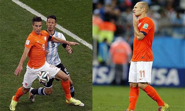fifa world cup dutch stars robben van persie empty handed