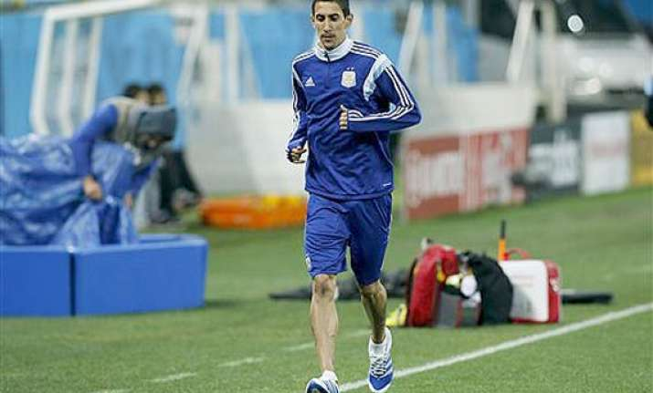 fifa world cup di maria racing time to be fit for world cup