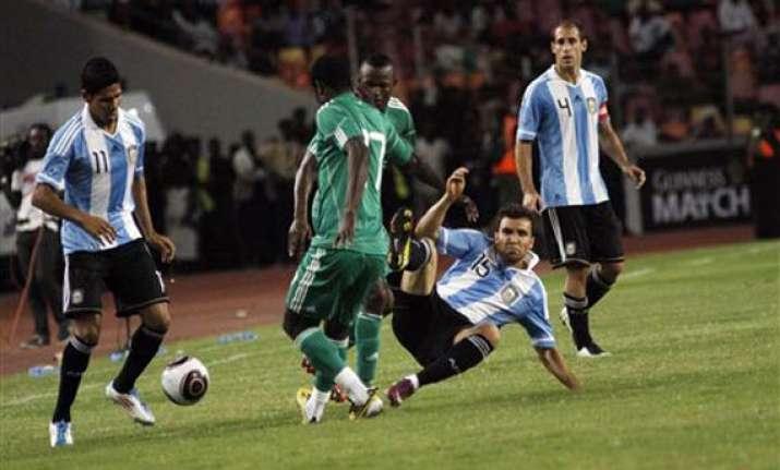 fifa probes argentina s thrashing in nigeria