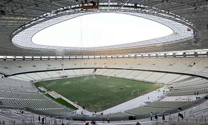 fans vandalize world cup stadium in brazil
