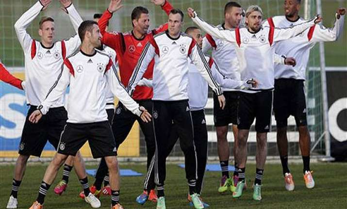 german world cup preparations begin against chile