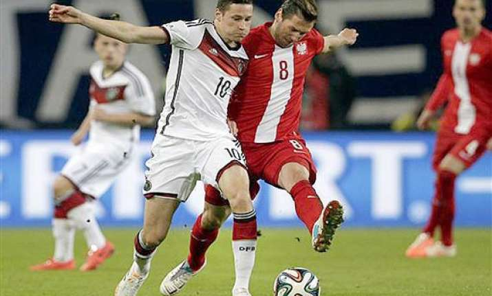 germany and poland draw 0 0 in friendly before world cup