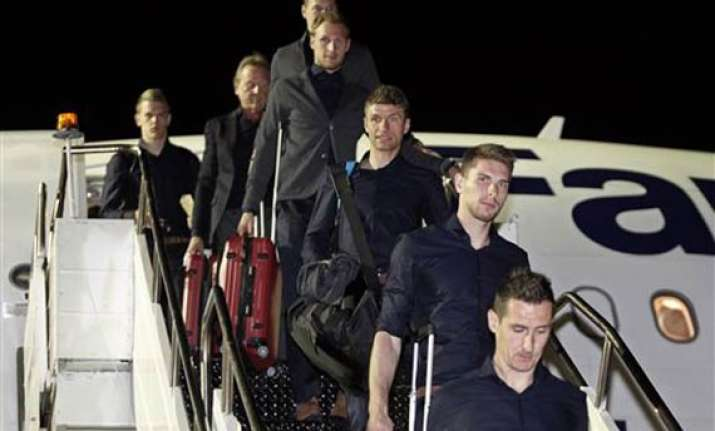 germany arrives in brazil with injury worries