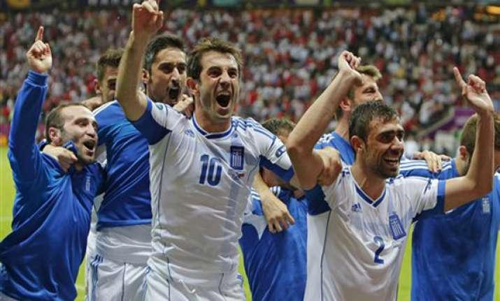 greece beats russia 1 0 to earn quarterfinal spot