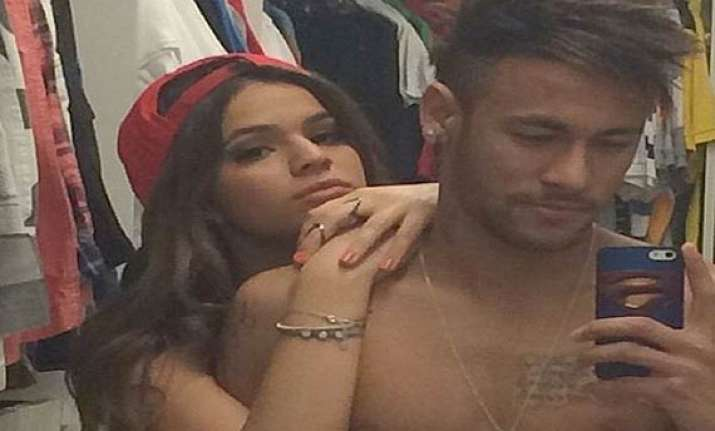 how neymar celebrated brazil s victory with gabriella lenzi