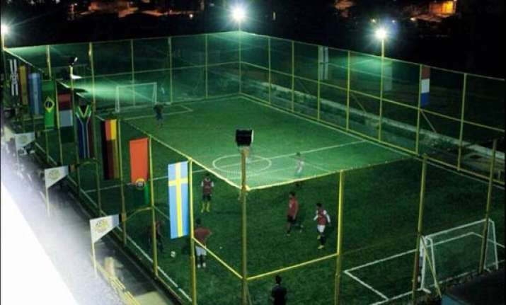 india s first rooftop mini football field