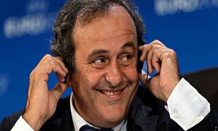 michel platini says he won t support blatter in fifa vote