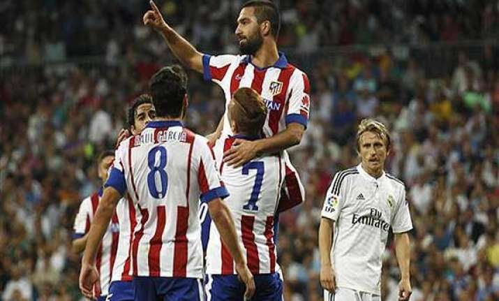 atletico wins 2 1 at madrid barcelona beats bilbao