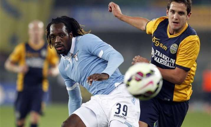 lazio draws 1 1 at hellas verona in serie a
