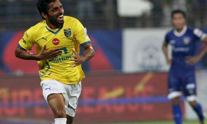 isl kerala shock chennai 3 0 in semifinals first leg