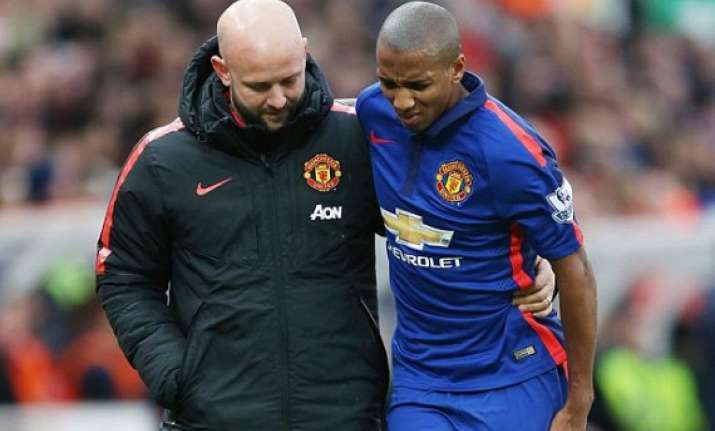 ashley young suffers hamstring injury