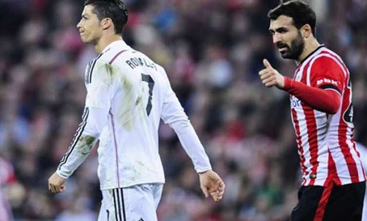 real madrid loses 1 0 at bilbao puts liga lead in jeopardy