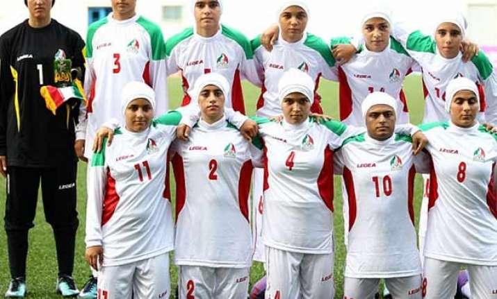 eight of iranian women s football team are men