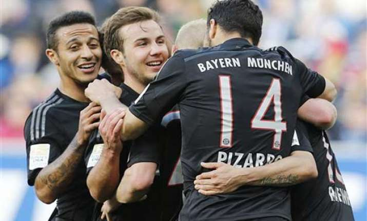 bayern closes in bundesliga title with win over hoffenheim