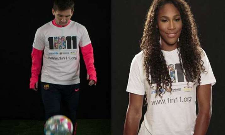 lionel messi serena williams team up for education for