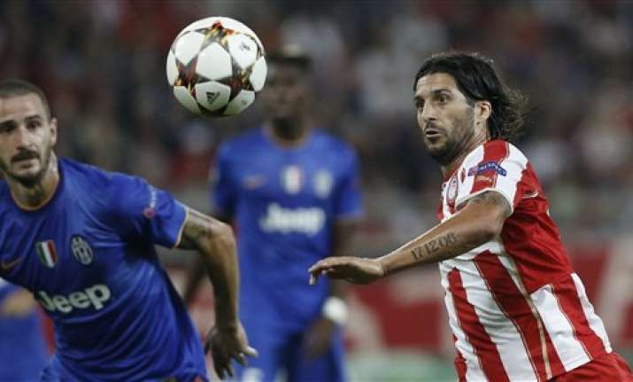 olympiakos beats juventus 1 0 in champions league
