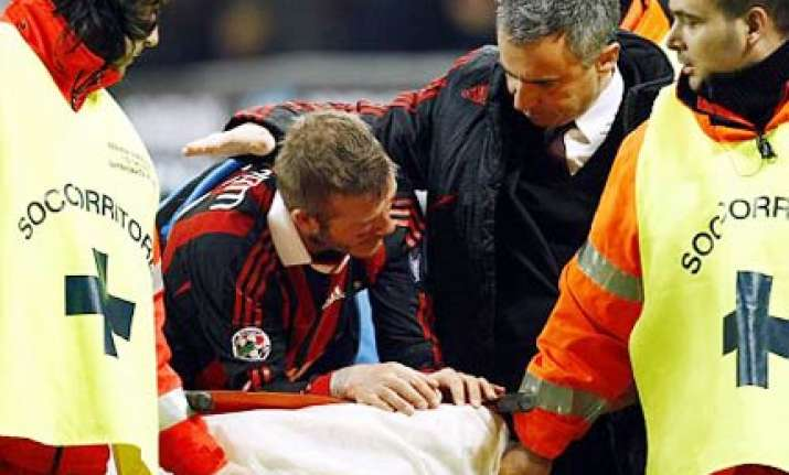 david beckham in tears as injury wrecks world cup dream