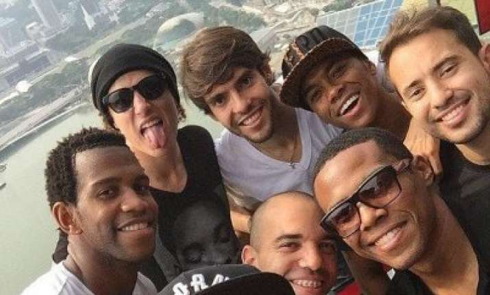 neymar took time out to celebrate brazil s recent win over