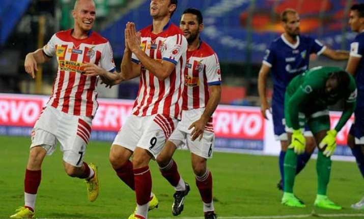 isl 2015 postiga stars on debut as atk beat chennaiyin fc