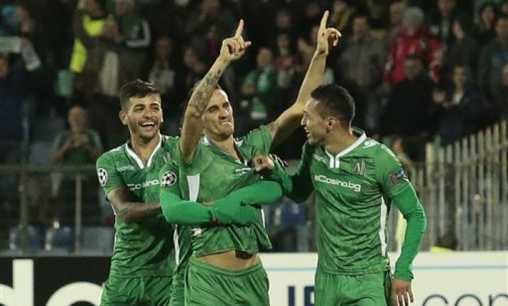 minev s late goal gives ludogorets win over basel