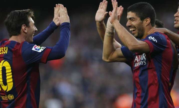 messi suarez on target as barcelona routs getafe 6 0