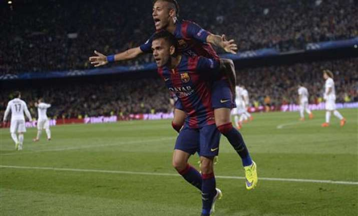 barcelona to meet bayern juventus gets madrid in semifinals