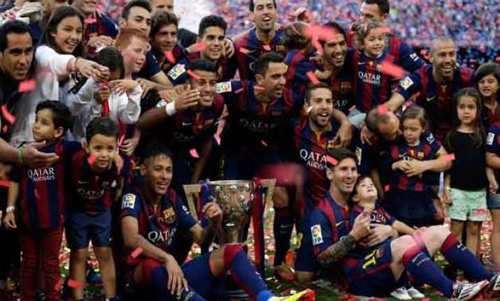 barcelona players dominate la liga team of the season