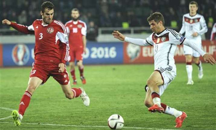 germany beats georgia 2 0 away in euro qualifier