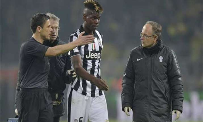 juve france midfielder pogba out 2 months with leg injury