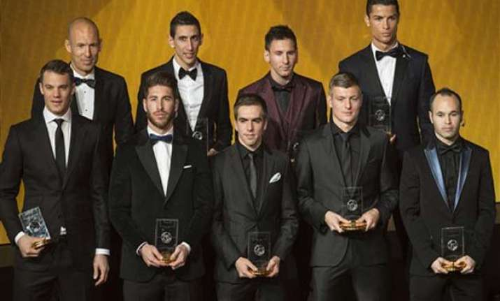 messi neuer ronaldo voted to fifpro world xi lineup