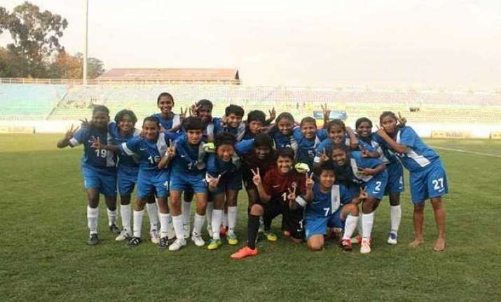 india under 14 girl footballers return from earthquake hit