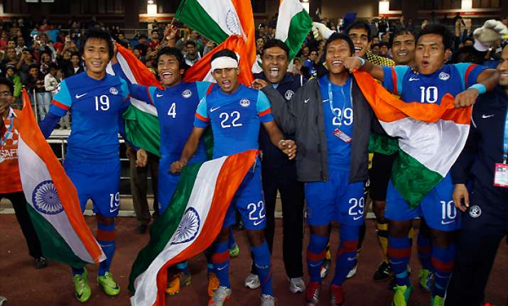 india beats afghanistan 4 0 to defend saff title