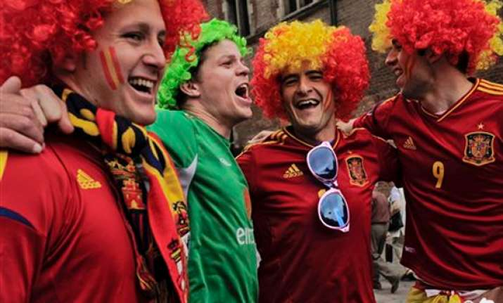 ireland fans in festive spirit before spain clash