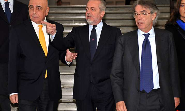 italian football chiefs fail to make peace
