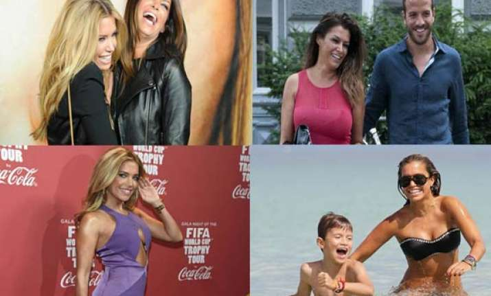 know the girl friend and ex wife of footballer rafael who