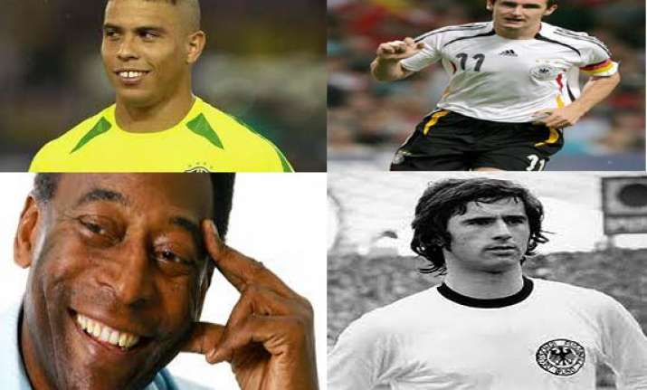 know the top five goal scorers in the history of football