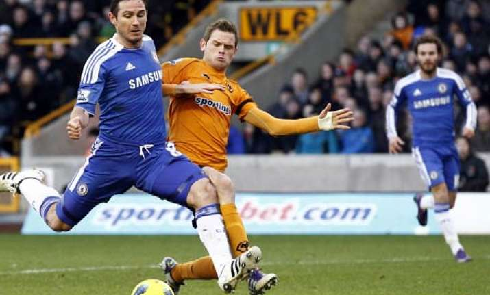 lampard secures 2 1 win for chelsea at wolves