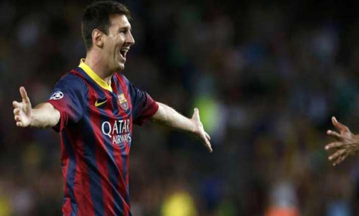 lionel messi scires hat trick in spanish league barca wins
