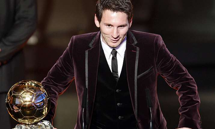 lionel messi named world s best player for 2011