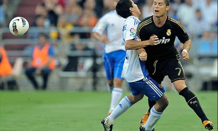 madrid thrashes zaragoza 6 0 in spanish opener