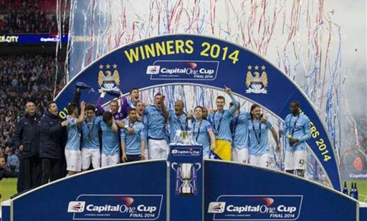 man city beats sunderland 3 1 in league cup final