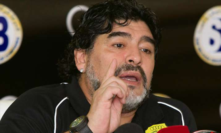 maradona fined over feud with rival coach